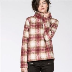 Just Female Wool Plaid Blouse Size XS